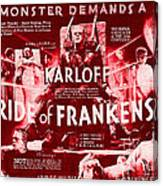 Classic Bride Of Frankenstein Poster Canvas Print