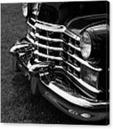 Classic Cadillac Sedan Black And White Canvas Print