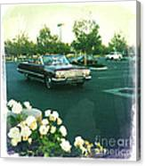 Classic Car Family Outing Canvas Print