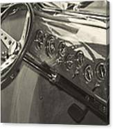 Classic Car Interior Canvas Print