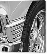 Classic Car Reflections - Training Wheels -179bw Canvas Print