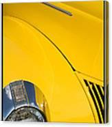 Classic Car Yellow - 09.20.08_471 Canvas Print