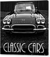 Classic Cars Front Cover Canvas Print