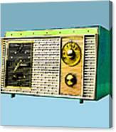 Classic Clock Radio Canvas Print