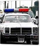 Classic Cop Car Canvas Print