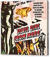 Classic Devil Girl From Mars Poster Canvas Print