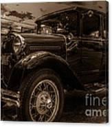 Classic Ford - Sepia Canvas Print