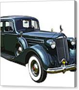 Classic Green Packard Luxury Automobile Canvas Print