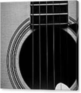Classic Guitar In Black And White Canvas Print