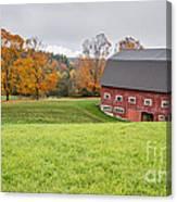 Classic New England Fall Farm Scene Canvas Print