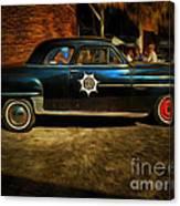 Classic Police Car Canvas Print