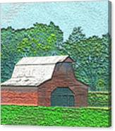 Classic Red Barn Canvas Print