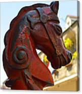 Classic Red Horsehead Post Canvas Print