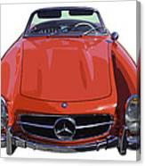 Classic Red Mercedes Benz 300 Sl Convertible Sportscar  Canvas Print