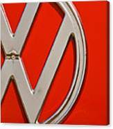 Classic Red Vw Canvas Print