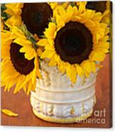 Classic Sunflowers Canvas Print