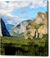 Classic Tunnel-view, Bridalveil Falls Canvas Print