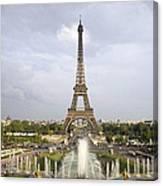 Classic View Of Paris Canvas Print