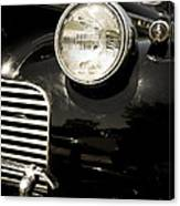 Classic Vintage Car Black And White Canvas Print