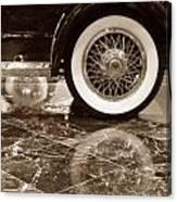 Classic Wheels Sepia Canvas Print