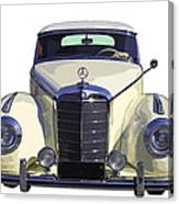 Classic White Mercedes Benz 300  Canvas Print