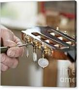 Classical Guitar Maker Canvas Print