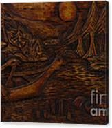 Clatsop Coyote God Italapas Canvas Print