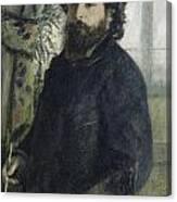 Claude Monet Self-portrait Canvas Print