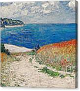 Claude Monet's Path In The Wheat Fields At Pourville-1882 Canvas Print