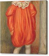 Claude Renoir In A Clown Costume Canvas Print