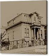 Clay And Hyde Street's San Francisco Built In 1874 Burned In The 1906 Fire Canvas Print