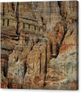 Clay Mountain Formations In Front Canvas Print