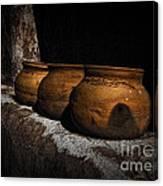 Clay Pots  ... Canvas Print