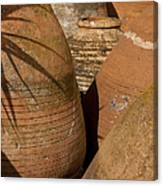 Clay Pots   #7806 Canvas Print