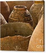Clay Pots   #7811 Canvas Print