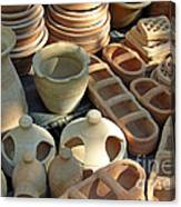 Clay Pots And Other Containers Canvas Print