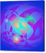 Clean And Blue Canvas Print