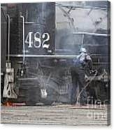 Cleaning Out The Coal Canvas Print