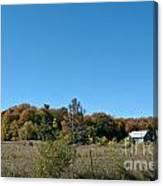 Clear Autumn Country Sky Canvas Print