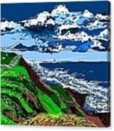 Clear Coast Canvas Print