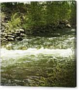 Clear Creek In Colorado Canvas Print