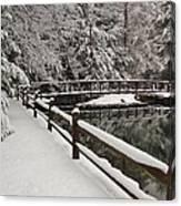 Clear Creek Winter Canvas Print