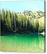 Clear Green Water Canvas Print