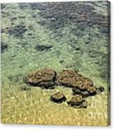 Clear Indian Ocean Water With Rocks At Galle Sri Lanka Canvas Print