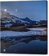 Clear Water Rainier Reflection Canvas Print