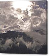 Clearing Clark's Fork Storm Canvas Print