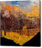 Clearing Storm West Temple 2012 Canvas Print