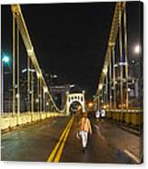 Clemente Bridge Stragglers Canvas Print
