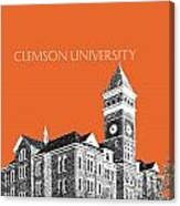 Clemson University - Coral Canvas Print