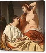 Cleopatra And Antony Canvas Print